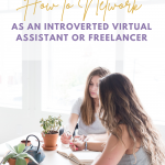 How to Network as an Introverted Virtual Assistant or Freelancer